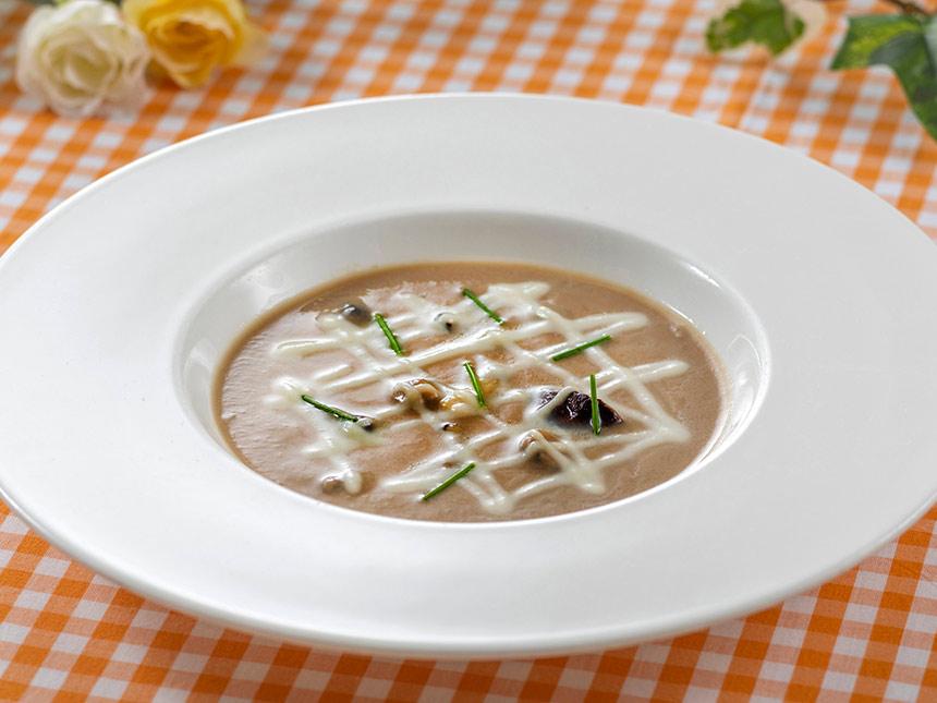 キノコと豆乳のスープ
