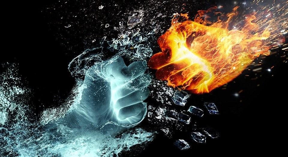 アーユルヴェーダでのピッタのイメージ火と水